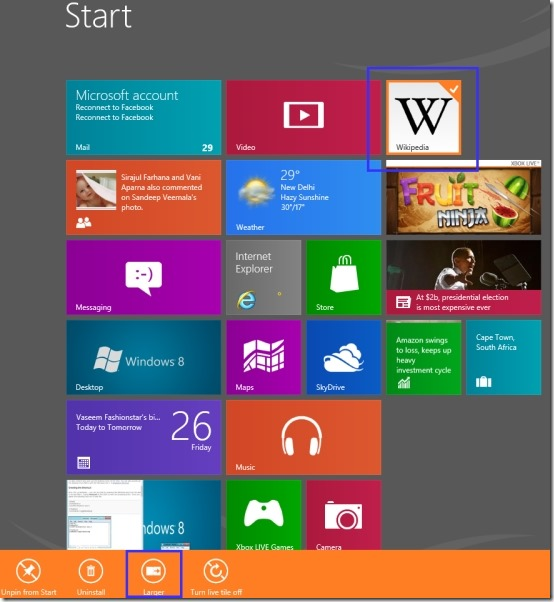 Make Windows 8 Tiles Smaller In Size