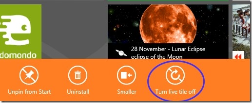 Turn Live Tile OFF01
