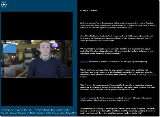 Video News App For Windows 8