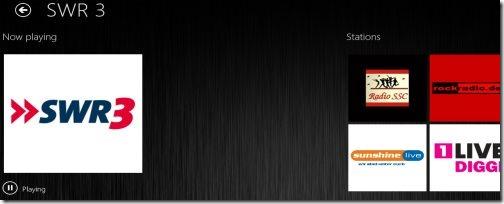 radio app for Windows 8