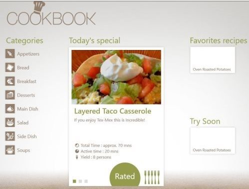 3 free windows 8 recipe apps windows 8 freeware ending my post with cookbook recipe app available under the food dining category of the app store this windows 8 recipe app get you more than 20000 forumfinder Gallery