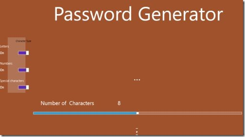 Password Generator Windows 8 app