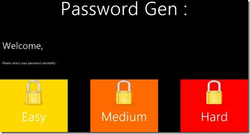 Windows 8 Password Generator Apps