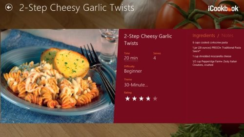 3 free windows 8 recipe apps windows 8 freeware icookbook available under the food dining is a free windows 8 recipe app that brings you more than 2000 different kitchen tested recipes covering the forumfinder Gallery