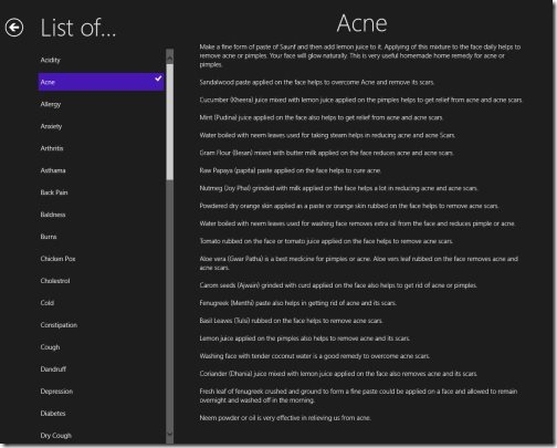 Windows 8 Home Remedies Apps