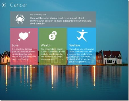 Windows 8 Horoscope apps