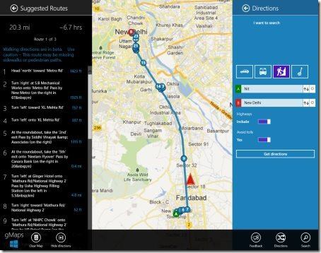 Windows 8 map app