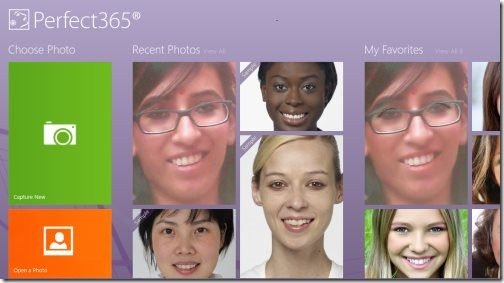Windows 8 virtual makeover app
