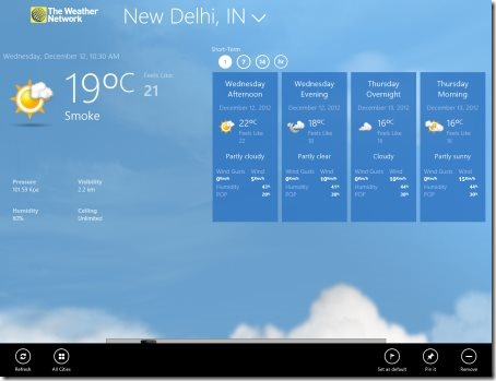 Windows 8 weather apps