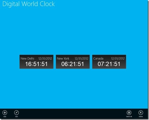 Windows 8 world clock apps