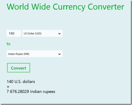 currency converter app for Windows 8