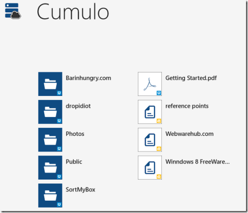 Cumulo-windows-8-app-cloud-storage