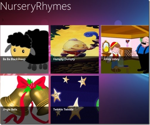 Nursery rhymes apps