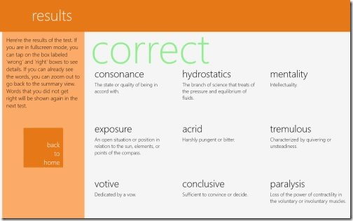 Vocabularist windows 8 app