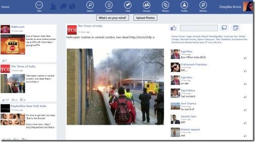 Windows 8 Facebook client app