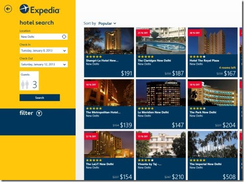 Windows 8 apps to book hotels