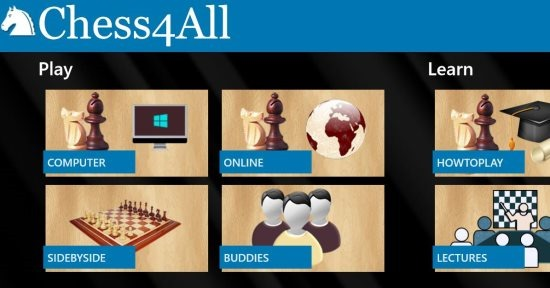 Windows 8 Chess App: Chess4All | Windows 8 Freeware