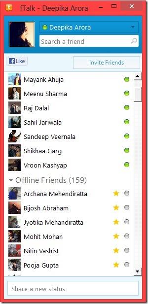 Windows 8 Facebook messenger