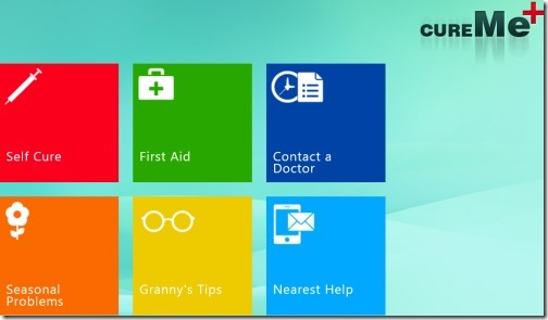 Windows 8 home remedies app