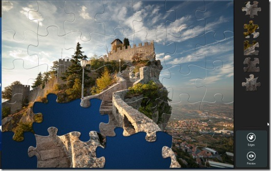 Windows 8 jigsaw puzzle app