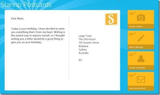 Stannp Postcards Windows 8 Postcard App Windows 8 Freeware