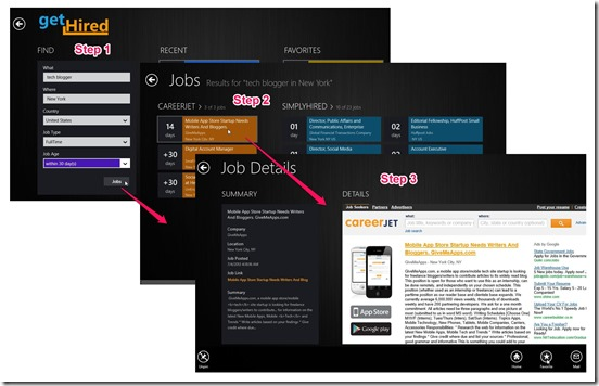 get hired- steps to search jobs