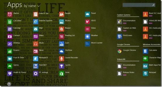 windows 8.1 apps screen