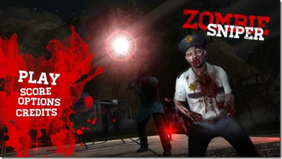 Awesome Zombie Sniper - main screen