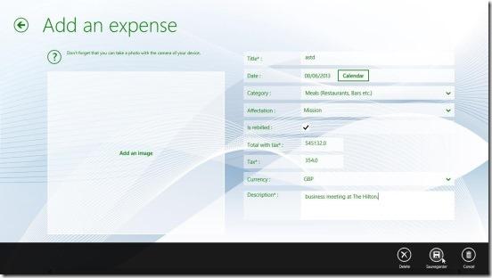 ExpenseFL-adding expense record