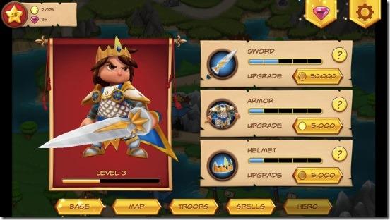 Royal Revolt-price upgrade