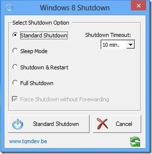 Windows 8 Shutdown-UI