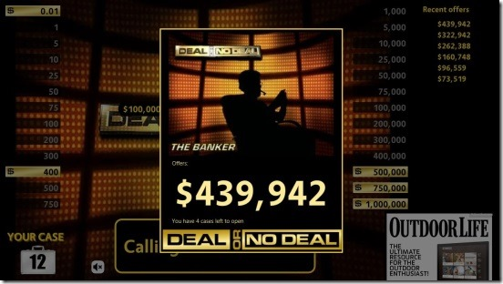 Deal Or No Deal  banker's offer