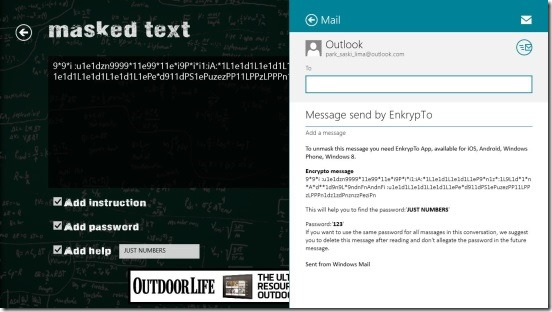 EncrypTo - e-mailing encrypted text