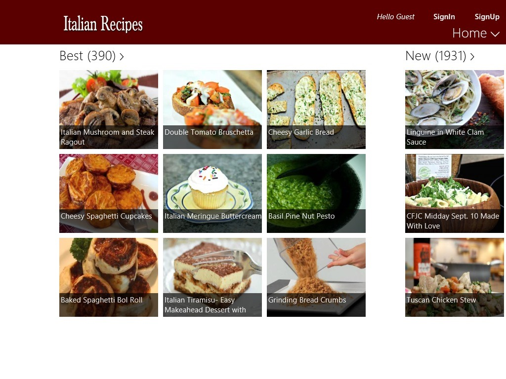 Free windows 8 recipe app to find italian recipes windows 8 freeware italian recipes windows 8 recipe app main screen forumfinder Gallery