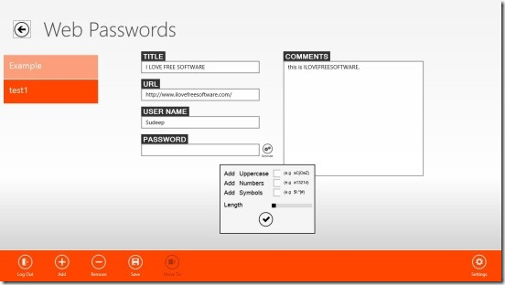 LockIt - saving password