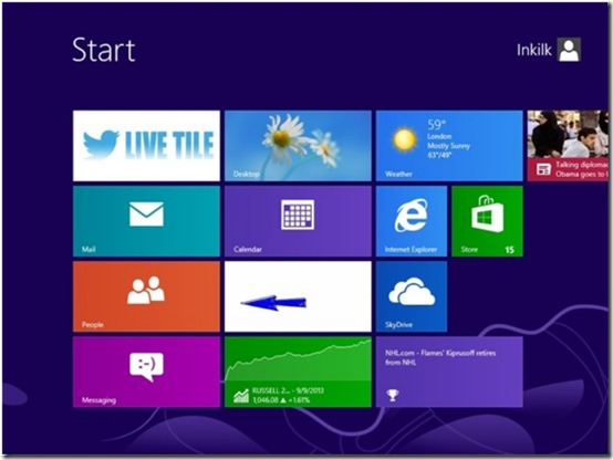 Twitter LIVE TILE - Windows 8 Twitter App- On Start Screen