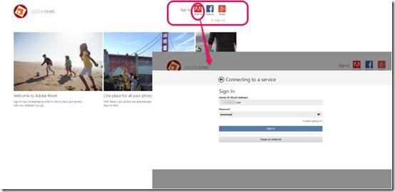 Adobe Revel- Provide your Credentials