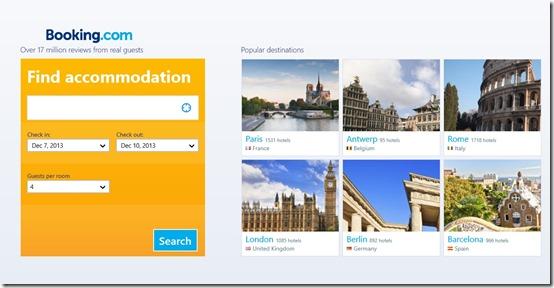 Booking.com- Main Screen