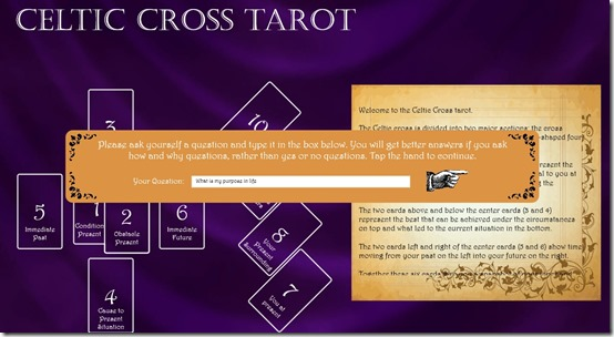 Celtic Cross Tarot- Ask your question