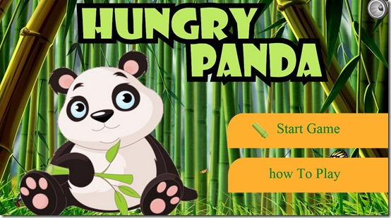 Hungry Panda- Main Screen