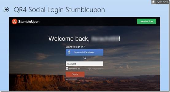 QR4 Social Login- Login Page