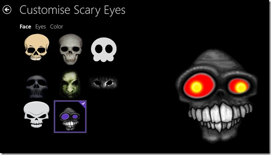 Scary Eyes- Choose Face