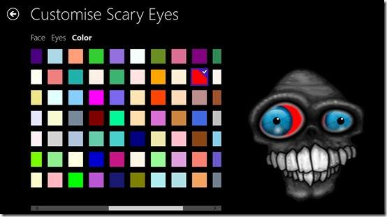 Scary Eyes- Pick Eye piece color