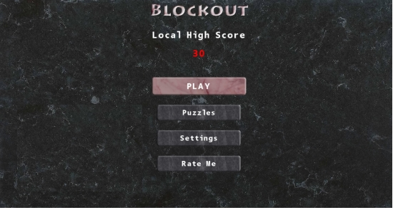 Blockout- Main menu