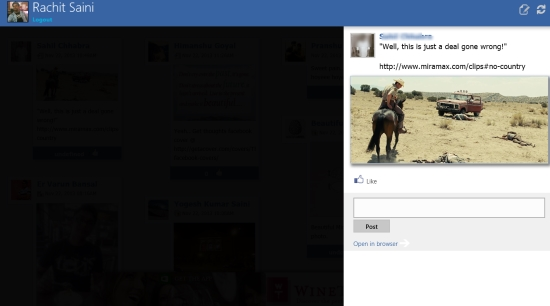 Feedlets for Facebook- options with update