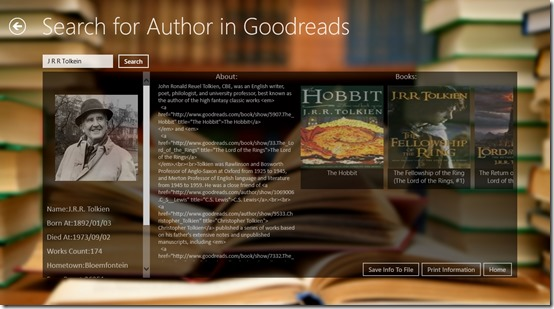 Goodbooks- Author search