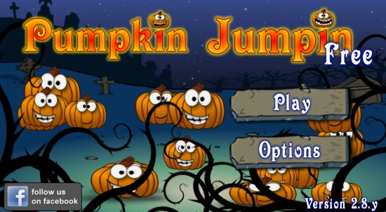 Pumpklin Jumpin Free- Start Screen