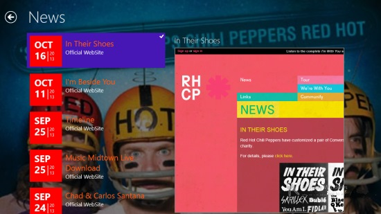 Red hot chili peppers hub- News
