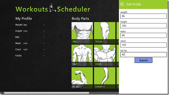 Workouts Scheduler- Add profile