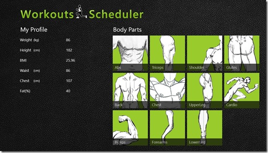 Workouts Scheduler